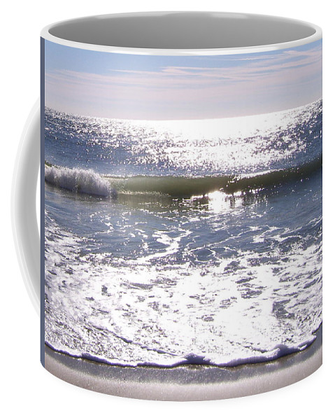 Ocean Coffee Mug featuring the photograph Iridescent Waves by Terry Cobb
