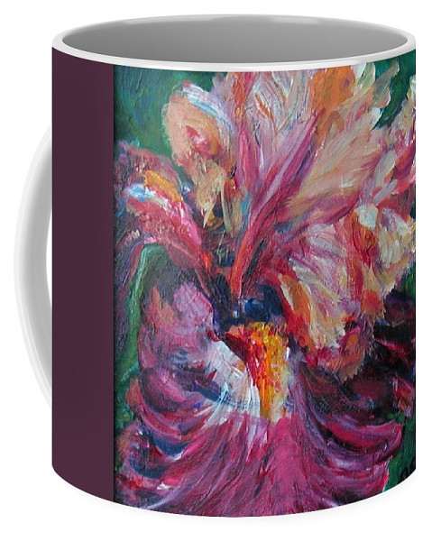 Impressionism Coffee Mug featuring the painting Iris - Bold Impressionist Painting by Quin Sweetman