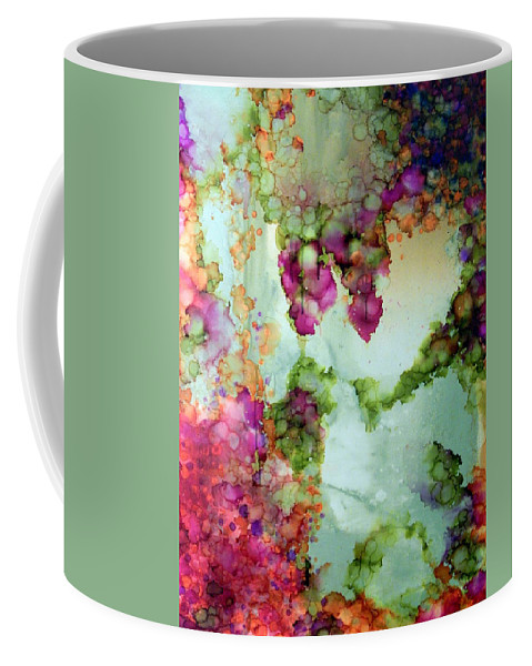 Landscape Coffee Mug featuring the painting Iris by Eladia Alvarado Mauriz