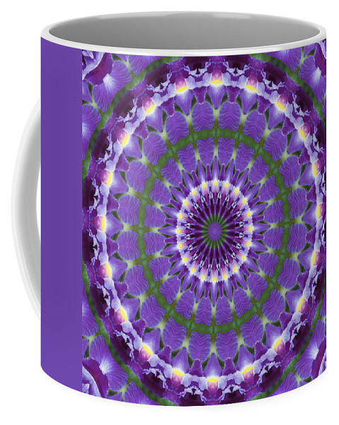 Iris Coffee Mug featuring the photograph Iris Kaleidoscope by Denise Beverly