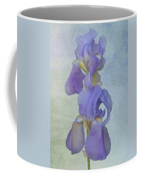 Iris Coffee Mug featuring the photograph Iris Texture by Michael Peychich