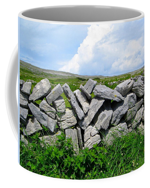 Stone Coffee Mug featuring the photograph Irish Stone Wall by Denise Mazzocco