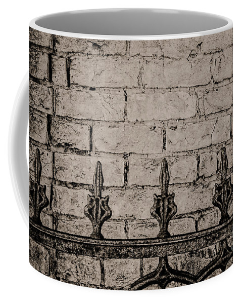 Cast Iron Coffee Mug featuring the photograph Iron Fence - New Orleans by Kathleen K Parker