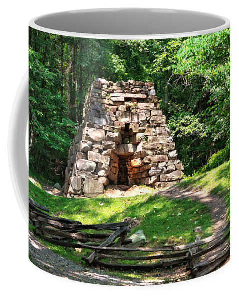 Cumberland Gap National Historical Park Coffee Mug featuring the photograph Iron Furance by Mary Almond