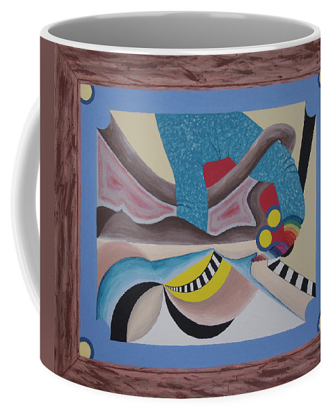 Expressionism Coffee Mug featuring the painting Irreconcilable Differences by Dean Stephens