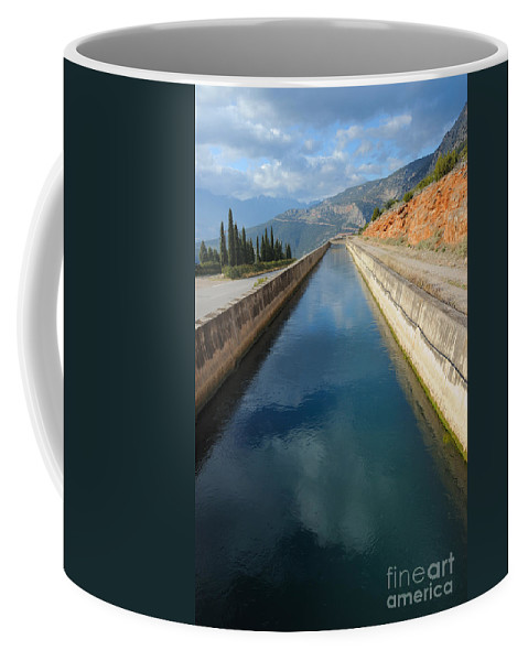 Irrication Coffee Mug featuring the photograph Irrigation Canal by Grigorios Moraitis