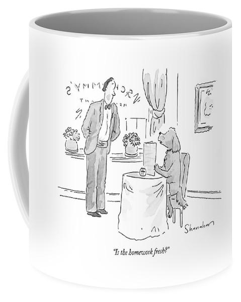 Is The Homework Fresh? Coffee Mug