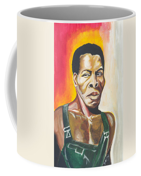 Actor Coffee Mug featuring the painting Isaac De Bankole by Emmanuel Baliyanga