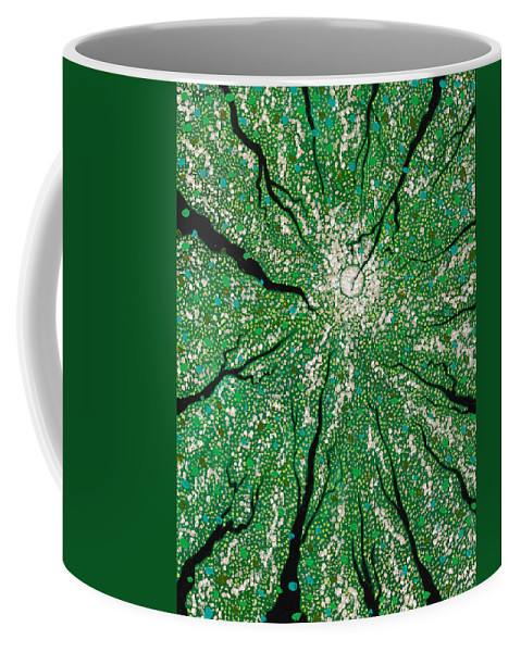 Contemporary Coffee Mug featuring the painting Isla In The Sky With Diamonds by Joel Tesch