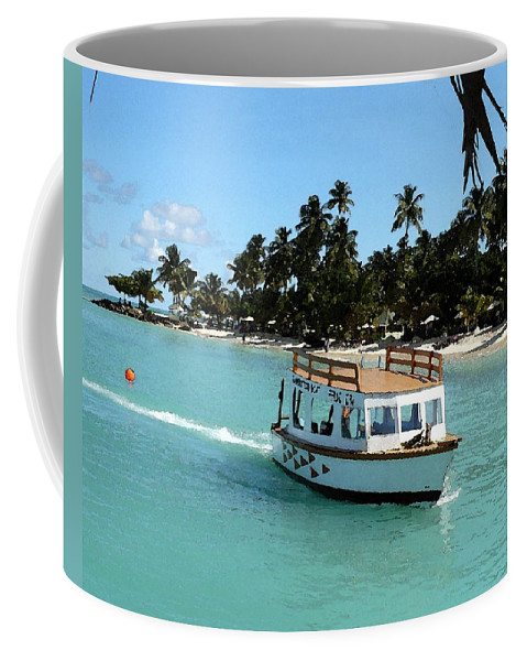 Boat Coffee Mug featuring the photograph Island Boat by Nicki Bennett