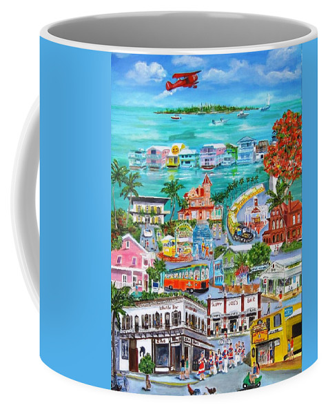 Key West Coffee Mug featuring the painting Island Daze by Linda Cabrera