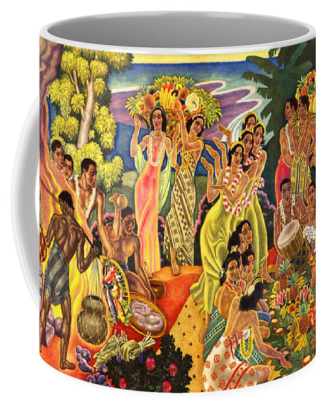 Hawaii Greeting Cards Coffee Mug featuring the painting Island Feast by James Temple