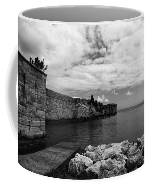 Stone.sky Coffee Mug featuring the photograph Island Fortress by Paul Watkins