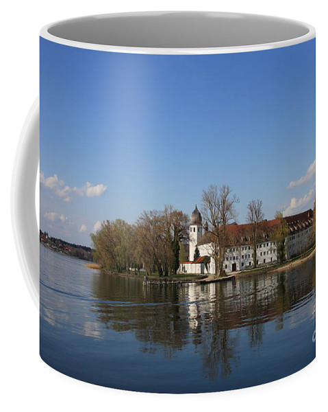 Island Coffee Mug featuring the photograph Island In The Lake by Christiane Schulze Art And Photography