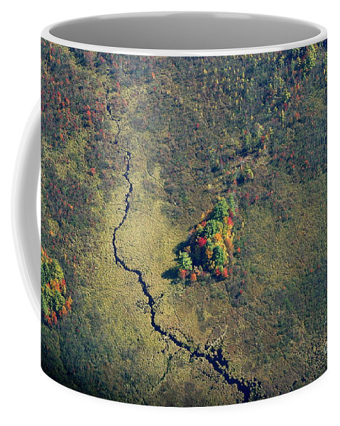 Fall Coffee Mug featuring the photograph Island Of Fall Color by Kenny Glotfelty