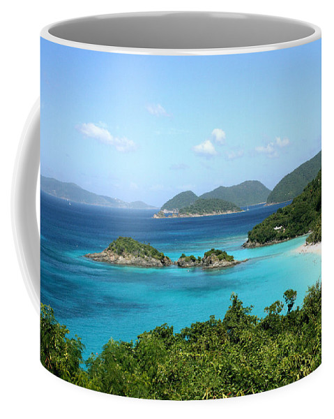 Caribbean Sea Coffee Mug featuring the photograph Island Shore Trunk Bay by Sharon McLain