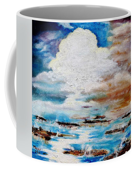 Seascape Coffee Mug featuring the painting Islands In The Stream by Meyer Van Rensburg