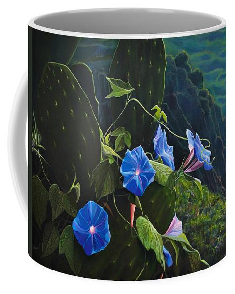 Capri Coffee Mug featuring the painting Isle of Capri by Hunter Jay