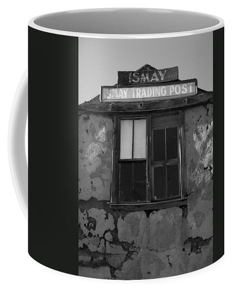 Black And White Coffee Mug featuring the photograph Ismay Ut Trading Post 03 by Jeff Brunton