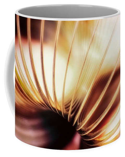 Coil Coffee Mug featuring the photograph It Walks Downstairs by Scott Norris