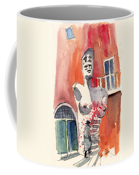 Italy Coffee Mug featuring the painting Italian Sculptures 05 by Miki De Goodaboom