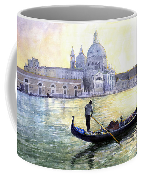 Watercolor Coffee Mug featuring the painting Italy Venice Morning by Yuriy Shevchuk