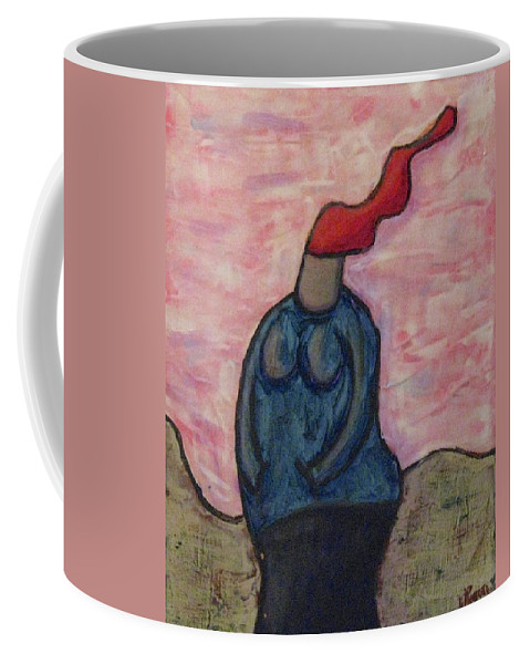 Landscapes Coffee Mug featuring the painting It's A Little Chilly Out by Mario MJ Perron