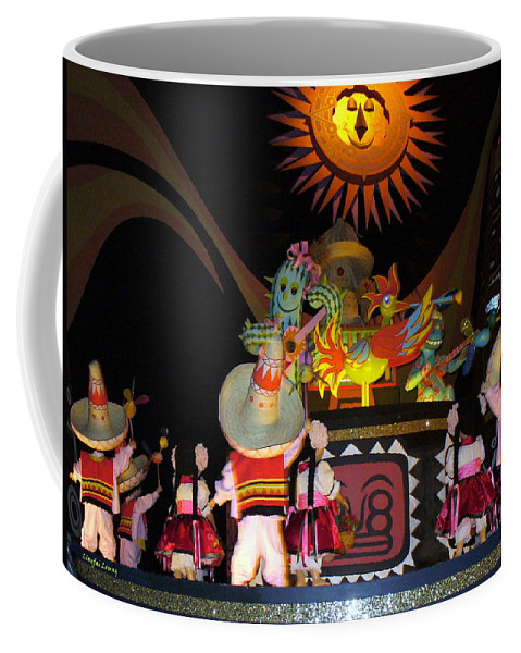 It's A Small World Ride Coffee Mug featuring the photograph It's A Small World With Dancing Mexican Character by Lingfai Leung
