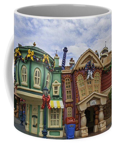 Coffee Mug featuring the photograph It's A Toontown Christmas by Lynn Bauer