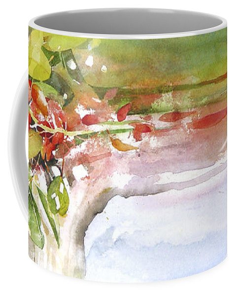 Tree Coffee Mug featuring the painting It's Only The Wind by Penny Taylor-Beardow