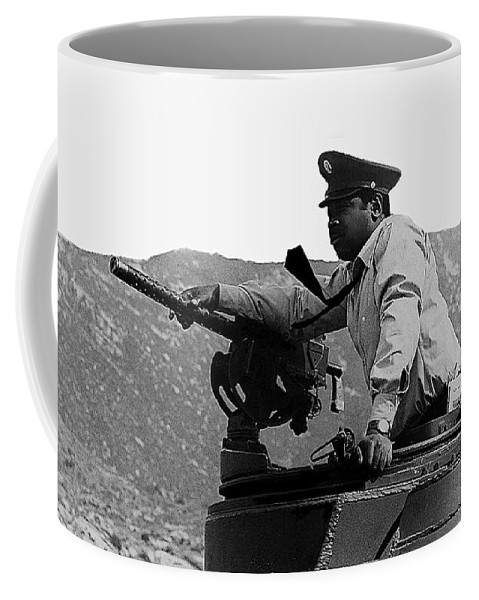 Ivan Dixon Suppose They Gave A War And Nobody Came Golder Dam Tucson Arizona 1969 Coffee Mug featuring the photograph Ivan Dixon Suppose They Gave A War And Nobody Came Golder Dam Tucson Arizona 1969 by David Lee Guss