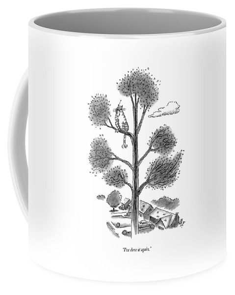 Cats Coffee Mug featuring the drawing I've Done It Again by Frank Cotham