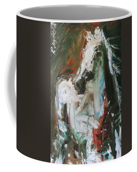 Original Horse Painting For Sale Coffee Mug featuring the painting Ivory by Robert Joyner