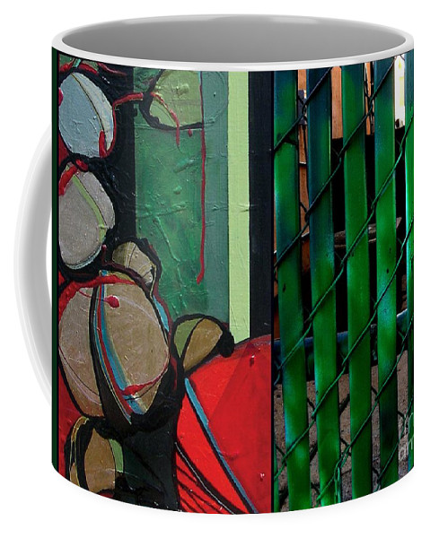 Marlene Burns Photography Coffee Mug featuring the painting j HOT 34 by Marlene Burns