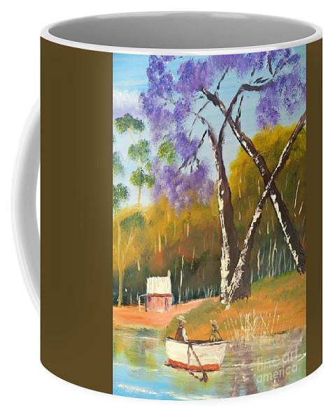 Impressionist Coffee Mug featuring the painting Jacaranda Tree by Pamela Meredith