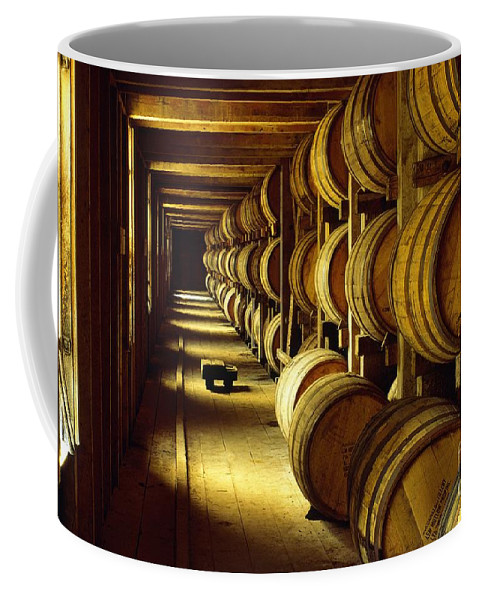 Jack Coffee Mug featuring the photograph Jack Daniel Whiskey Maturing In Barrels In Old Warehouse At The Lynchburg Distillery Tennessee Usa by David Lyons