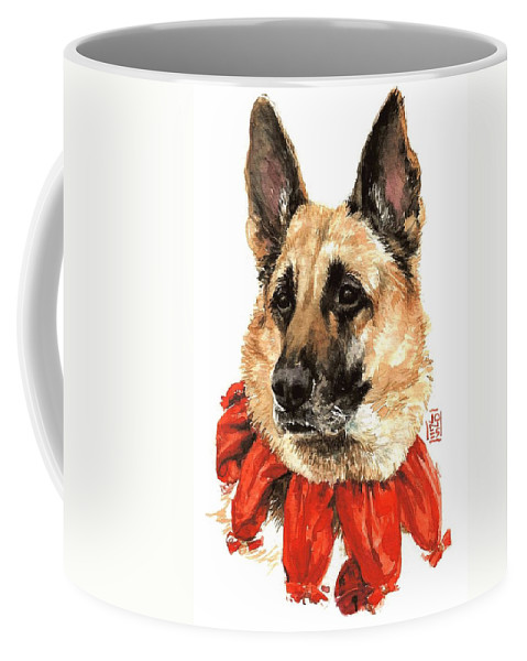 Holiday Greeting Card Coffee Mug featuring the painting Jackie by Debra Jones