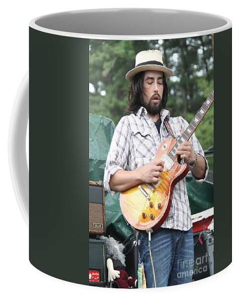 Acoustic Guitar Coffee Mug featuring the photograph Jackie Greene by Concert Photos