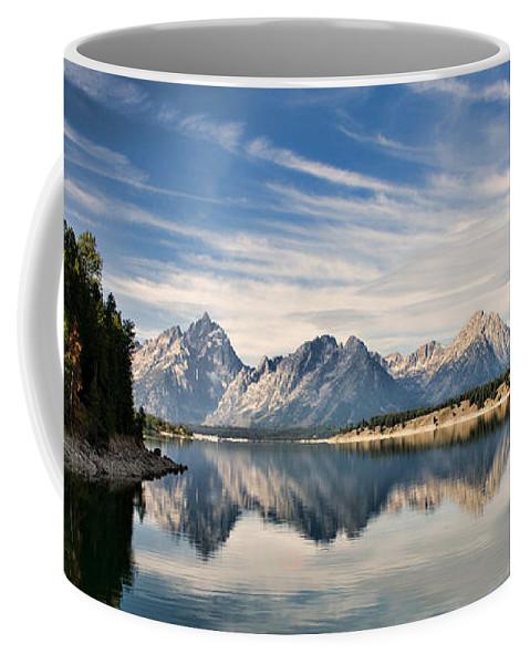 grand Teton National Park Coffee Mug featuring the photograph Jackson Lake by Lana Trussell