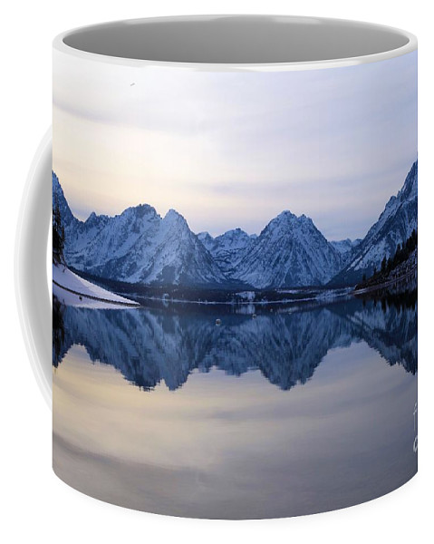 Grand Teton Coffee Mug featuring the photograph Jackson Lake Reflections by Adam Jewell