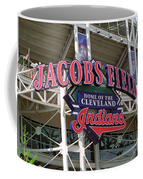 America Coffee Mug featuring the photograph Jacobs Field - Cleveland Indians by Frank Romeo