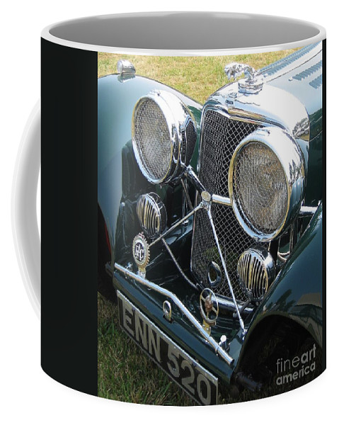 Jaguar Coffee Mug featuring the photograph Jaguar Ss100 by Neil Zimmerman