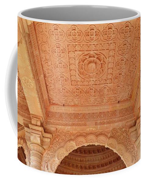 Temple Coffee Mug featuring the photograph Jain Temple Ceiling - Amarkantak India by Kim Bemis