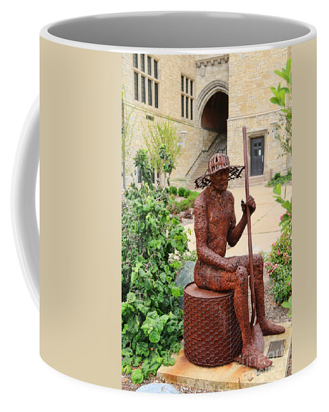 University Of Toledo Coffee Mug featuring the photograph James Brunner Sculpture 1559 by Jack Schultz