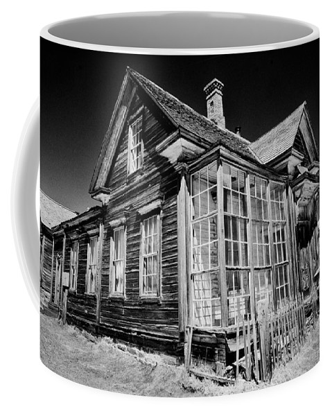 Black Coffee Mug featuring the photograph James Cain House by Cat Connor