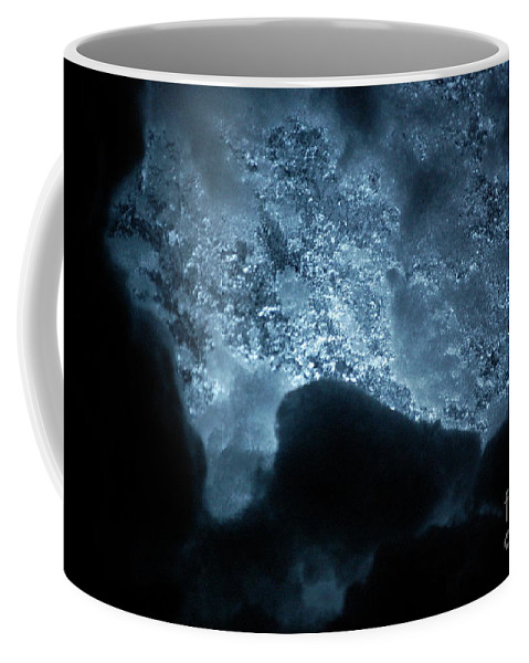 Gray Coffee Mug featuring the photograph Jammer Deep Blue 002 by First Star Art