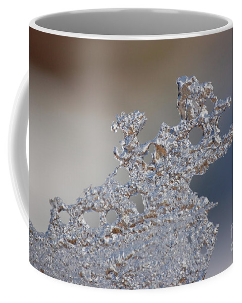 Fractal Ice Coffee Mug featuring the photograph Jammer Fractal Ice 001 by First Star Art