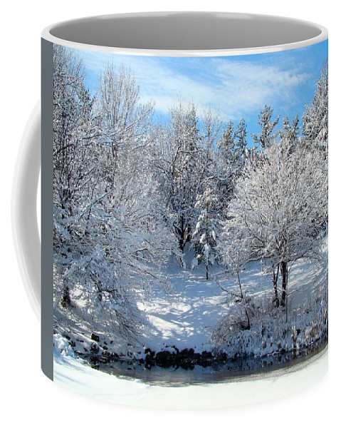 Snow Covered Trees Coffee Mug featuring the photograph January Trees by Gothicrow Images