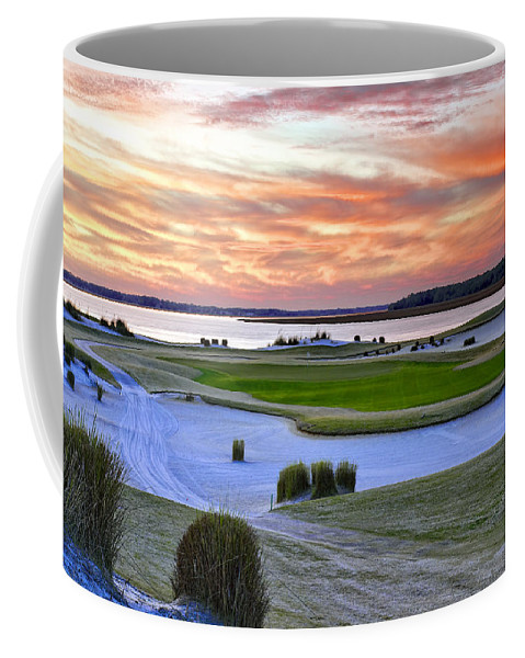 Beaufort County Coffee Mug featuring the photograph January Twilite Golf by Phill Doherty