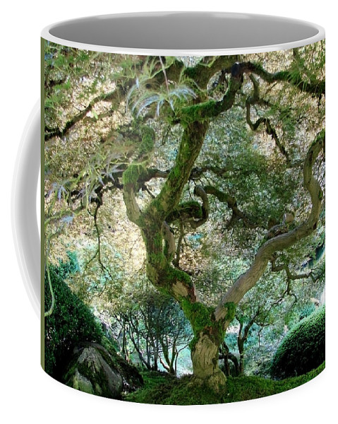 Japanese Maple Tree Coffee Mug featuring the photograph Japanese Maple Tree II by Athena Mckinzie
